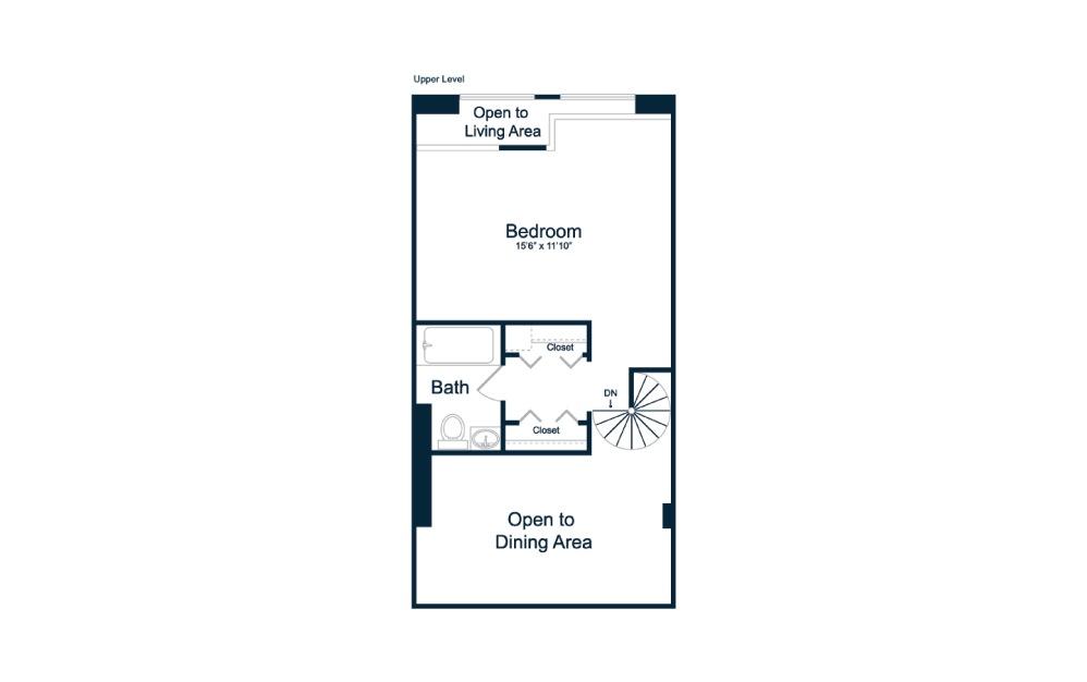 1 bedroom 1.5 bath 1015 sq.ft.