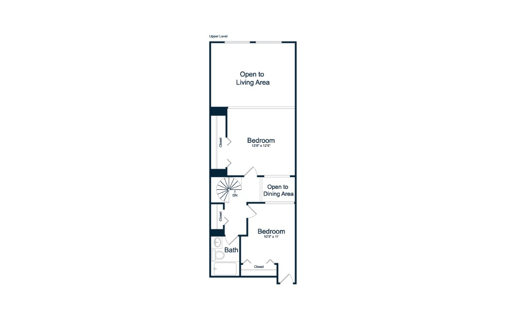 1 bedroom 1.5 bath 1150 sq.ft.